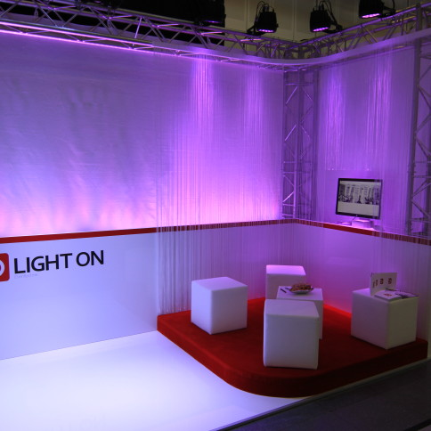 Messestand für LIGHT ON Eventtechnik